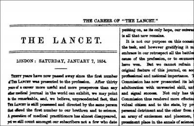 The Lancet masthead