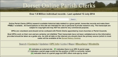 Dorset OPC Home Page