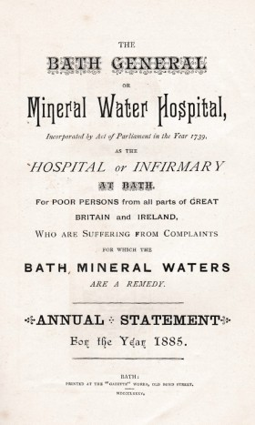 Bath Hospital 1885 report