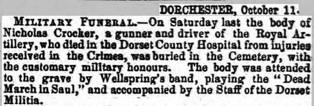 DCH Crockers funeral B&W original 1856 (Hampshire Advertiser, 11 October 1856, page 7) 300 dpi