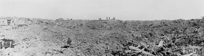BATTLE OF MESSINES, JUNE 1917 (Q 2320) Panoramic view of the old German lines on the ridge at Messines, 11th June 1917, destroyed during the Battle of Messines. Copyright: © IWM. Original Source: http://www.iwm.org.uk/collections/item/object/205078199