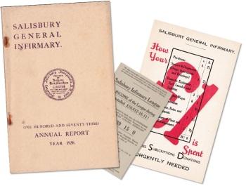 Salisbury Infirmary ephemera