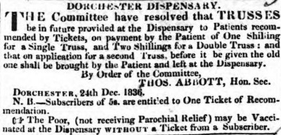 Dorset County Chronicle, 29 December 1836